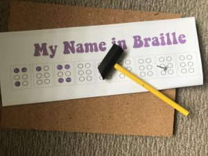 Tap your name in Braille